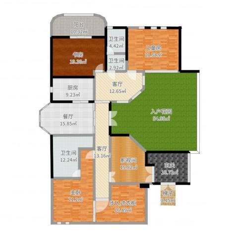 山水华门3室3厅3卫1厨301.00㎡户型图