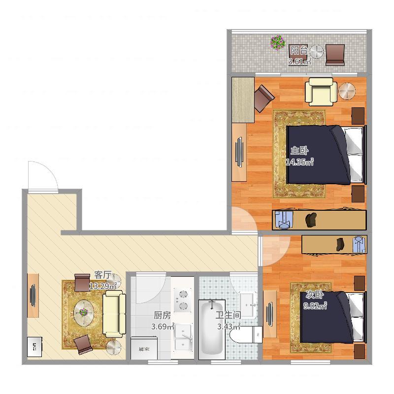 高层08室户型户型图