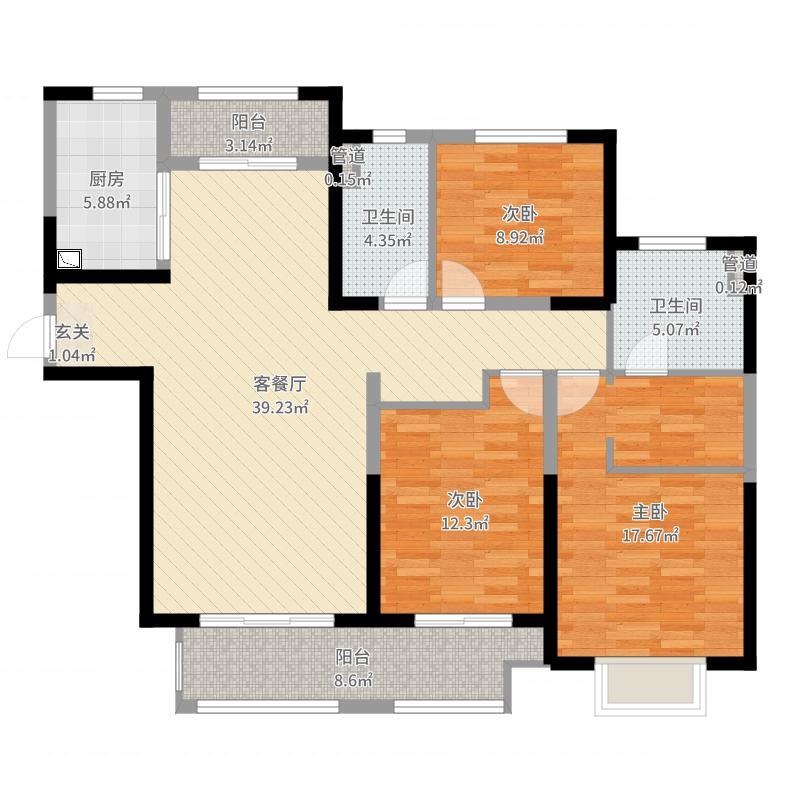 石家庄_保利拉菲公馆_2017-08-23-1729户型图