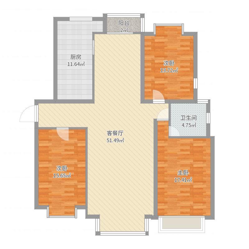 呼和浩特_兴泰东河湾_2017-04-20-1023-副本-副本户型图