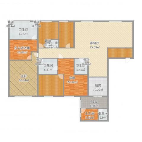 太原茂业天地2室2厅5卫1厨308.00㎡户型图