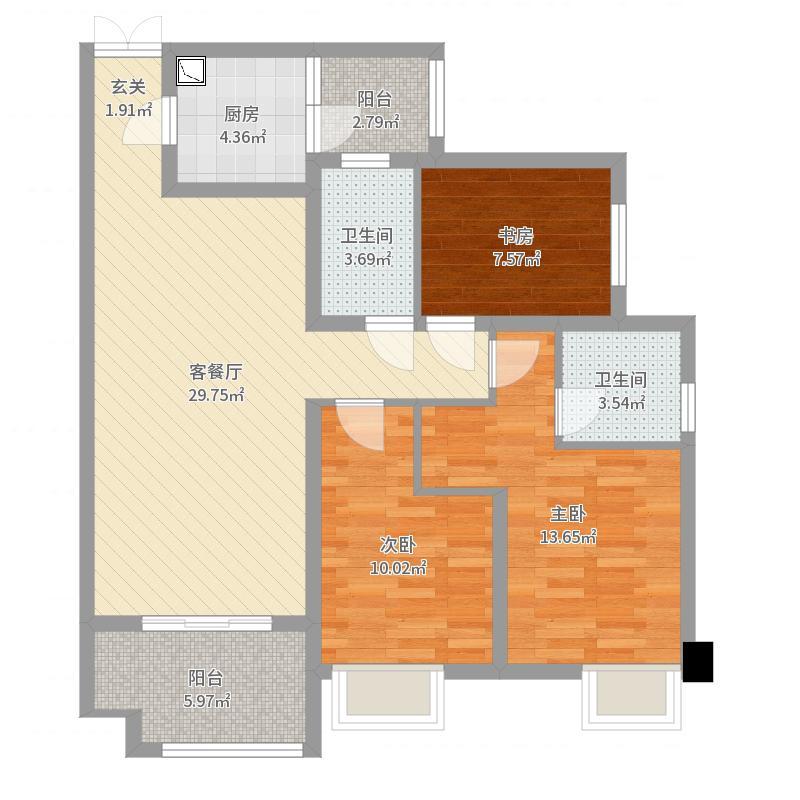 重庆_约克郡景悦_2017-08-24-1346户型图