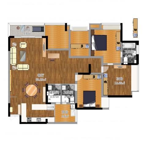 吉安园2期A户型1室1厅2卫0厨189.00㎡户型图