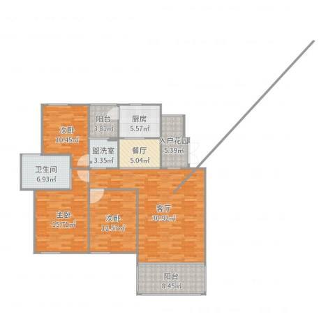 世纪城龙慈苑3室5厅1卫1厨135.00㎡户型图