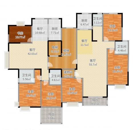 山语银城6室2厅4卫2厨325.00㎡户型图