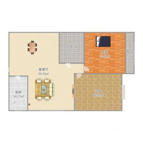 海荣豪佳花园2室2厅1卫1厨272.00㎡户型图