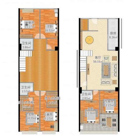 新港广场6室1厅3卫1厨283.00㎡户型图