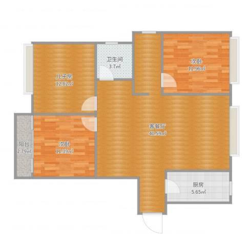 集云文泽府邸2室2厅1卫1厨111.00㎡户型图