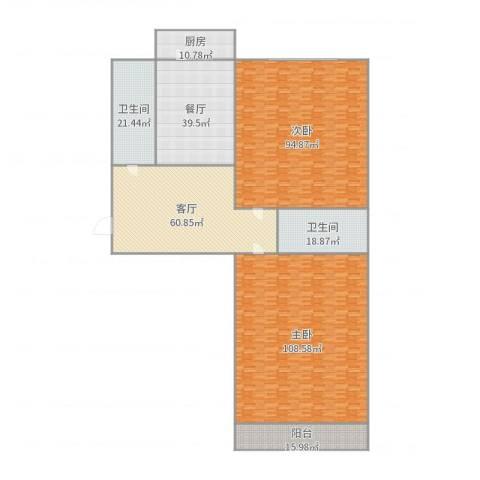舜玉花园2室2厅2卫1厨464.00㎡户型图