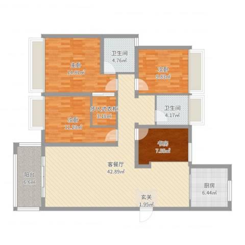 中凯银杏湖4室2厅2卫1厨139.00㎡户型图