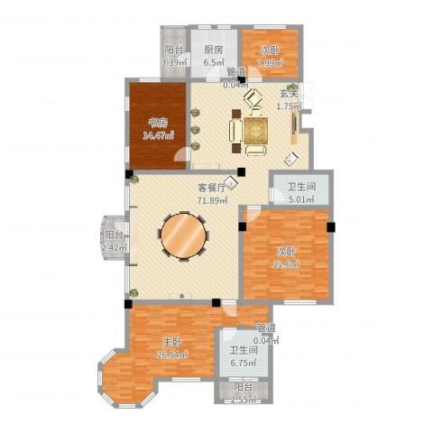 伊丽雅特湾二期4室2厅2卫1厨213.00㎡户型图
