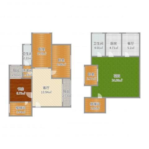 天府欣苑1室2厅2卫1厨119.00㎡户型图