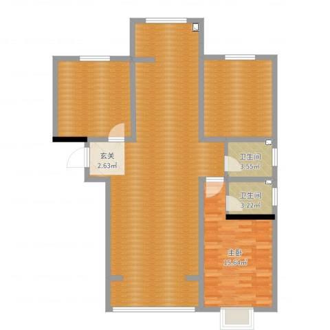 汇丰・中央公馆1室0厅2卫0厨126.00㎡户型图