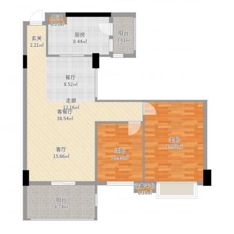 新都城市花园2室2厅0卫1厨109.00㎡户型图