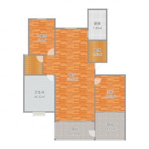 丰中名邸2室1厅1卫1厨173.00㎡户型图