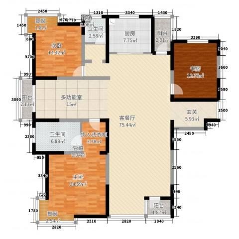 春江花月3室2厅2卫1厨189.00㎡户型图