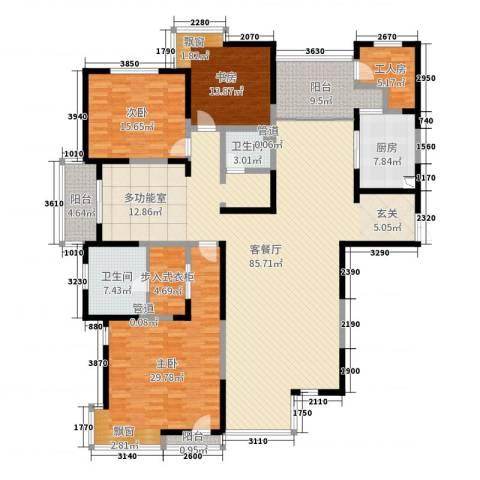 春江花月3室2厅2卫1厨235.00㎡户型图