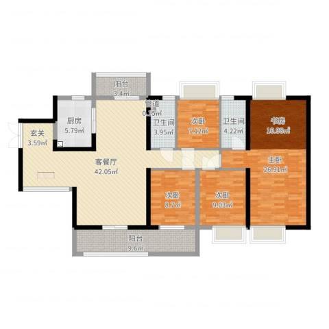 吴川第一城4室2厅2卫1厨151.00㎡户型图