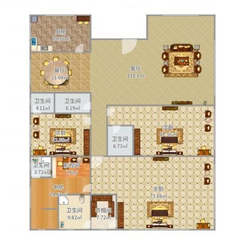 云山雅轩4室1厅5卫1厨423.00㎡户型图