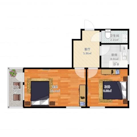 新欣里2-3092室1厅1卫1厨51.00㎡户型图