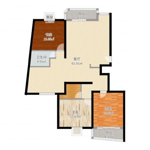 阳光丽城3室1厅1卫0厨153.00㎡户型图