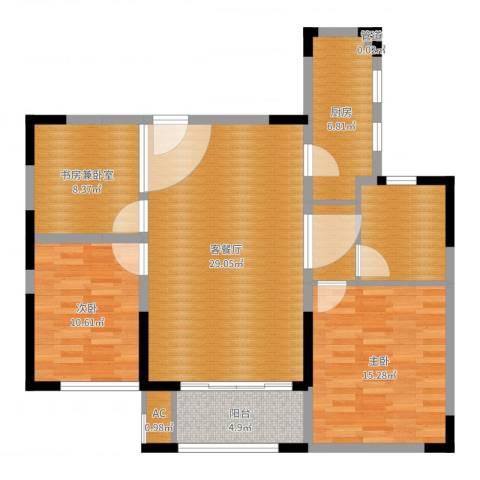 世家英伦2室2厅0卫1厨105.00㎡户型图