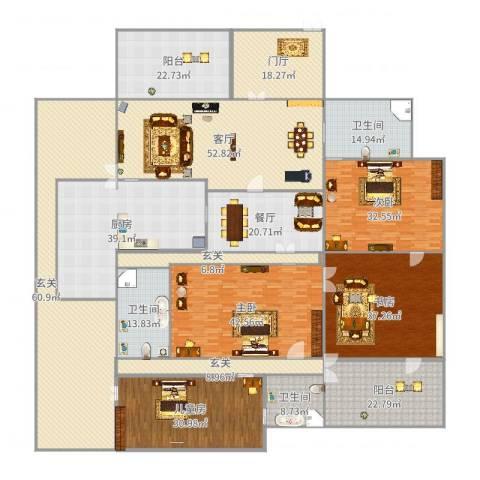 中建大公馆4室2厅3卫1厨543.00㎡户型图
