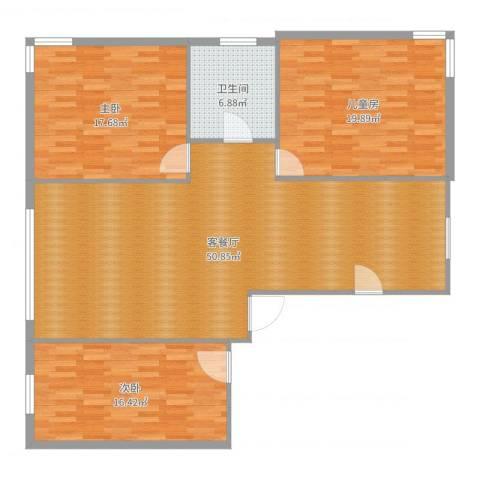 佳地花园3室2厅1卫0厨140.00㎡户型图