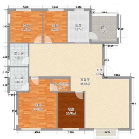 锦园小区4室2厅2卫1厨150.00㎡户型图
