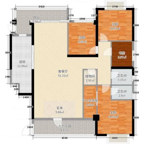 吉祥花园4室2厅2卫1厨175.00㎡户型图