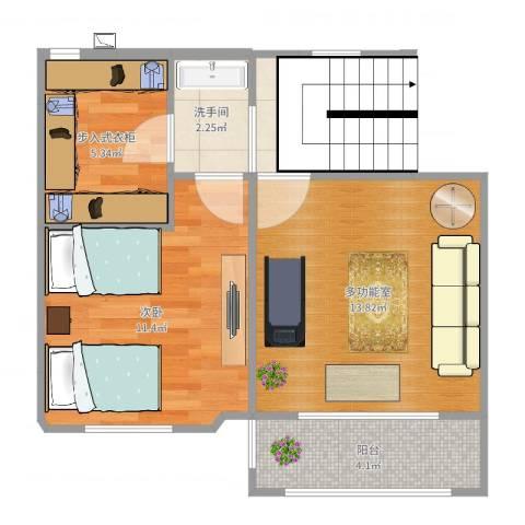 西山艺境璟园4号楼1单元502室1室0厅0卫0厨52.00㎡户型图
