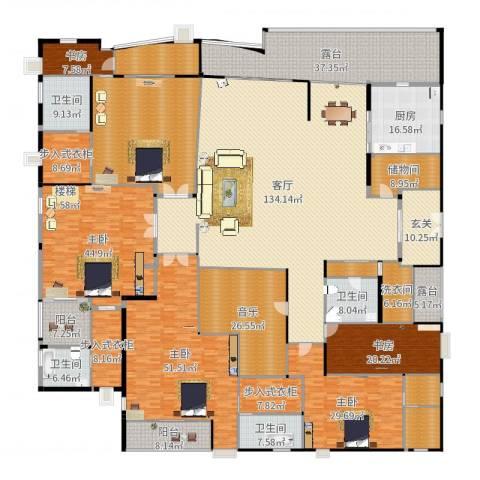 源昌鑫海湾5室1厅4卫1厨665.00㎡户型图