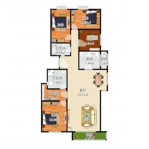 观景园4室1厅2卫2厨180.00㎡户型图