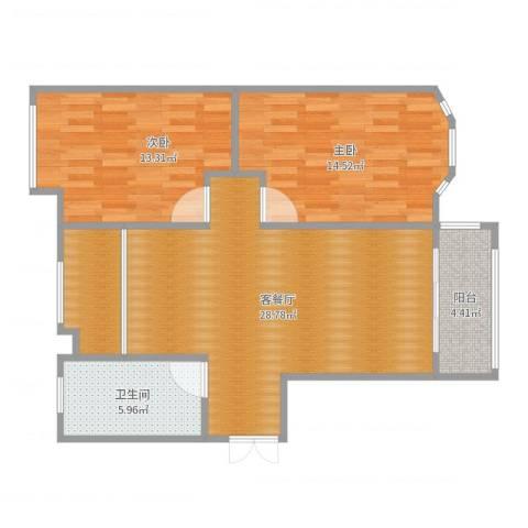 泰鑫香樟苑2室2厅1卫0厨89.00㎡户型图
