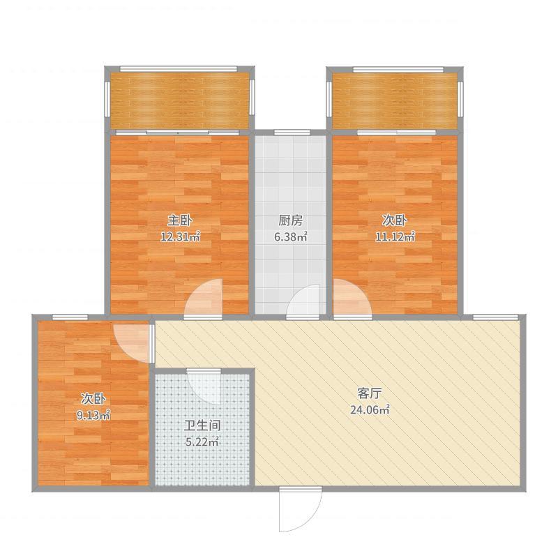 金桂苑11.3.502户型图