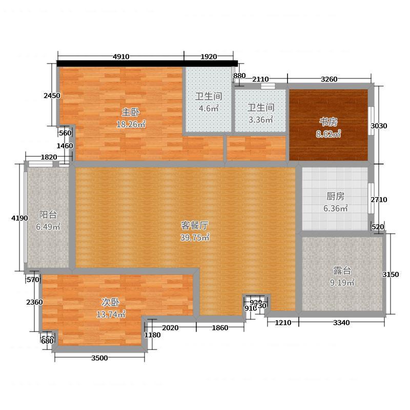 万科璞悦山12栋402室张总户型图