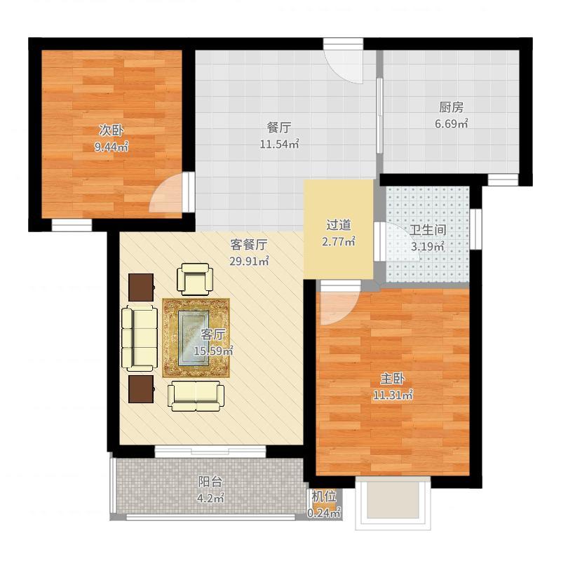 珠峰国际花园三期户型图