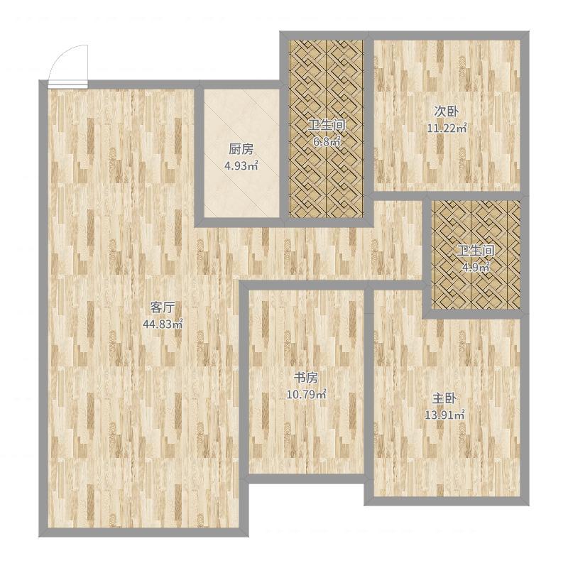 福山·文萃苑5#楼一单元1601户型图