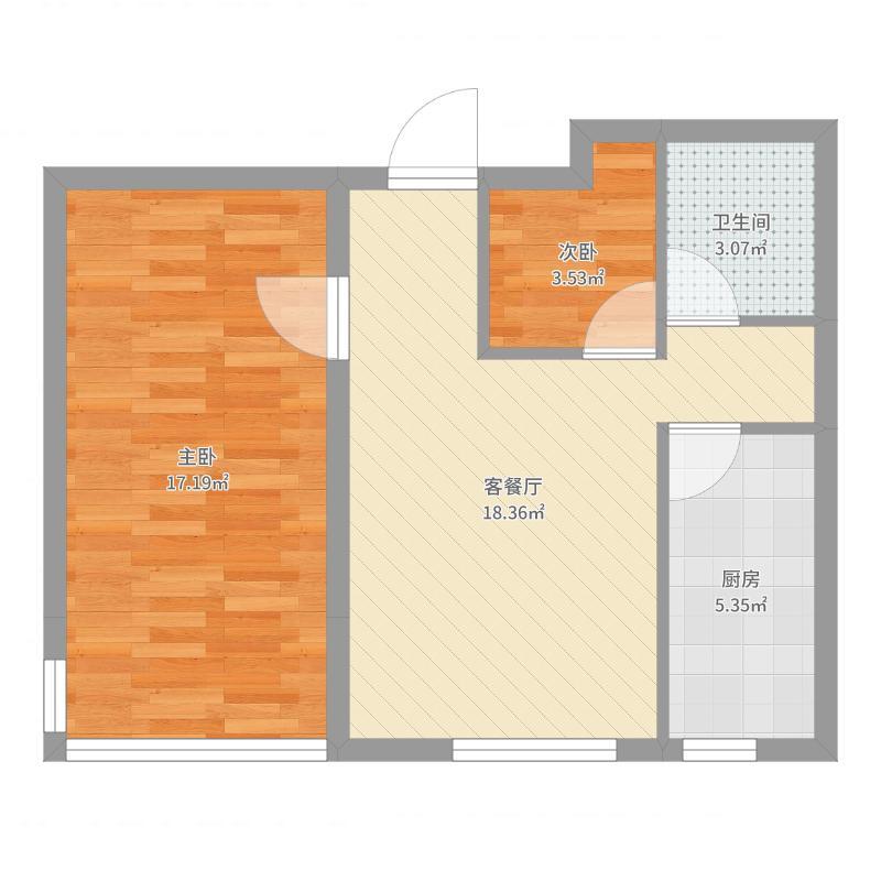 清潭新村70.00㎡清潭新村4室户型4室-副本户型图
