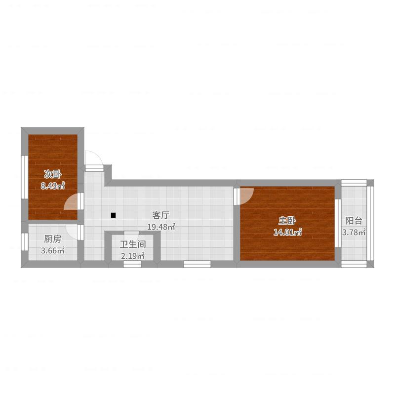 二室一厅-副本户型图