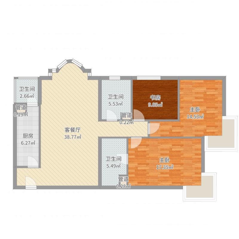 北苑家园户型图