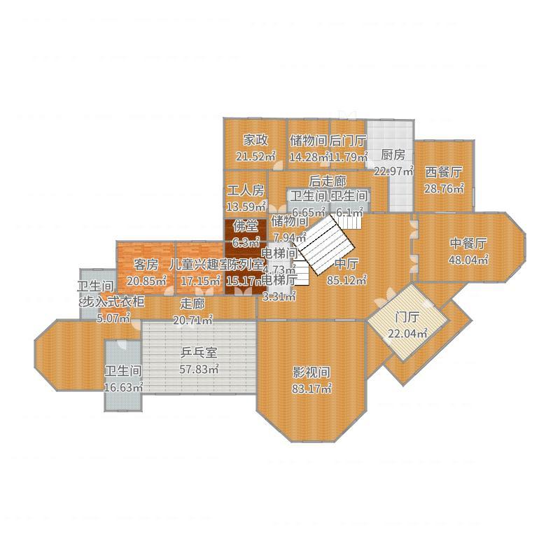 孝义别墅一层-副本户型图