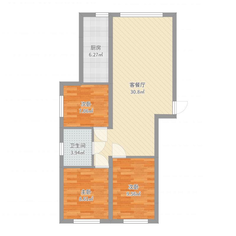 呼和浩特_蓝色港湾_2017-09-21-0942户型图