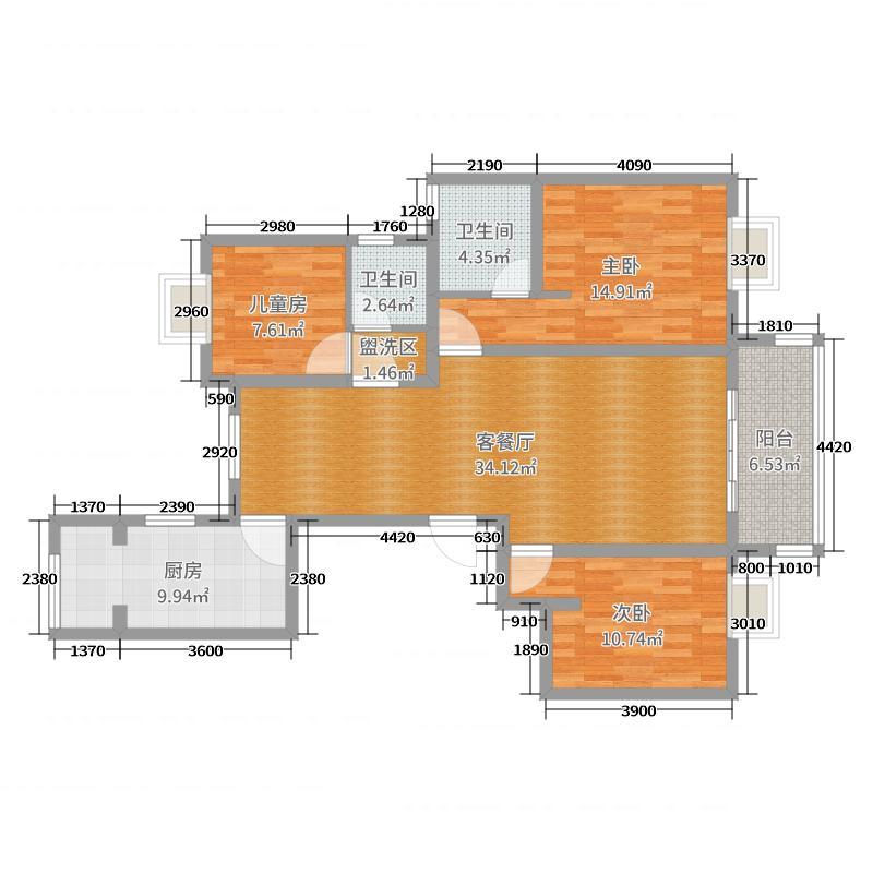 城置公园龙湾9#2403室户型图