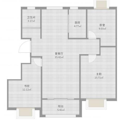 名仕佳苑2室2厅1卫1厨113.00㎡户型图