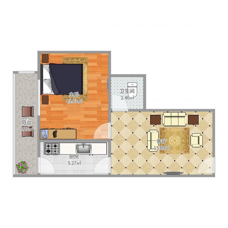 蝶桥公寓7-1-102户型图