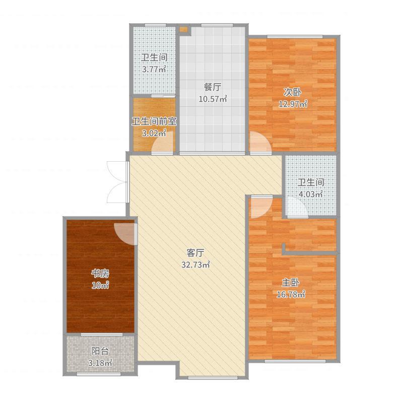 春霖3号楼1-301第二版户型图