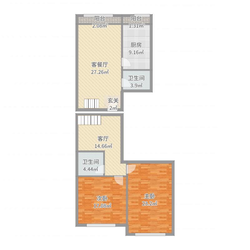 芳群公寓复式户型图