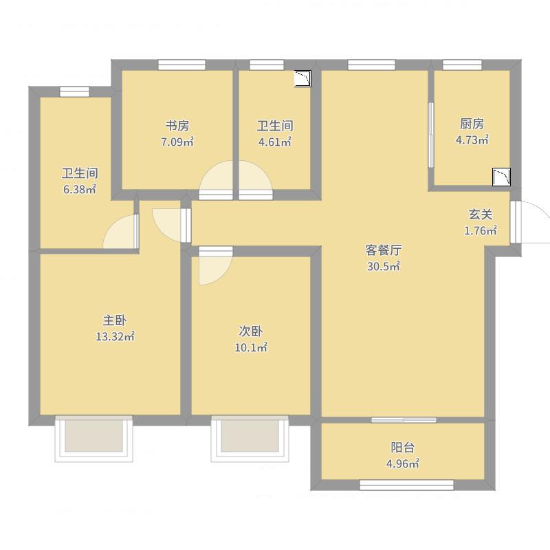天津_中冶德贤公馆_2017-09-22-0922户型图