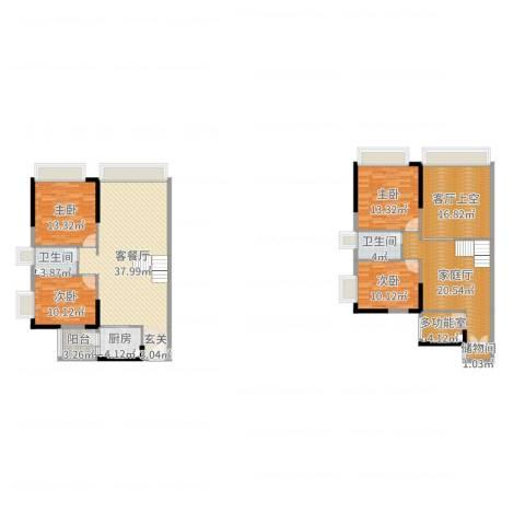 敏捷伊顿公馆4室2厅2卫1厨178.00㎡户型图
